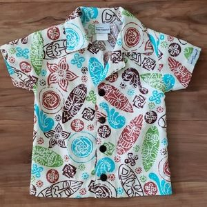 The Original Flap Happy Tiki Mask Shirt Size 24mo